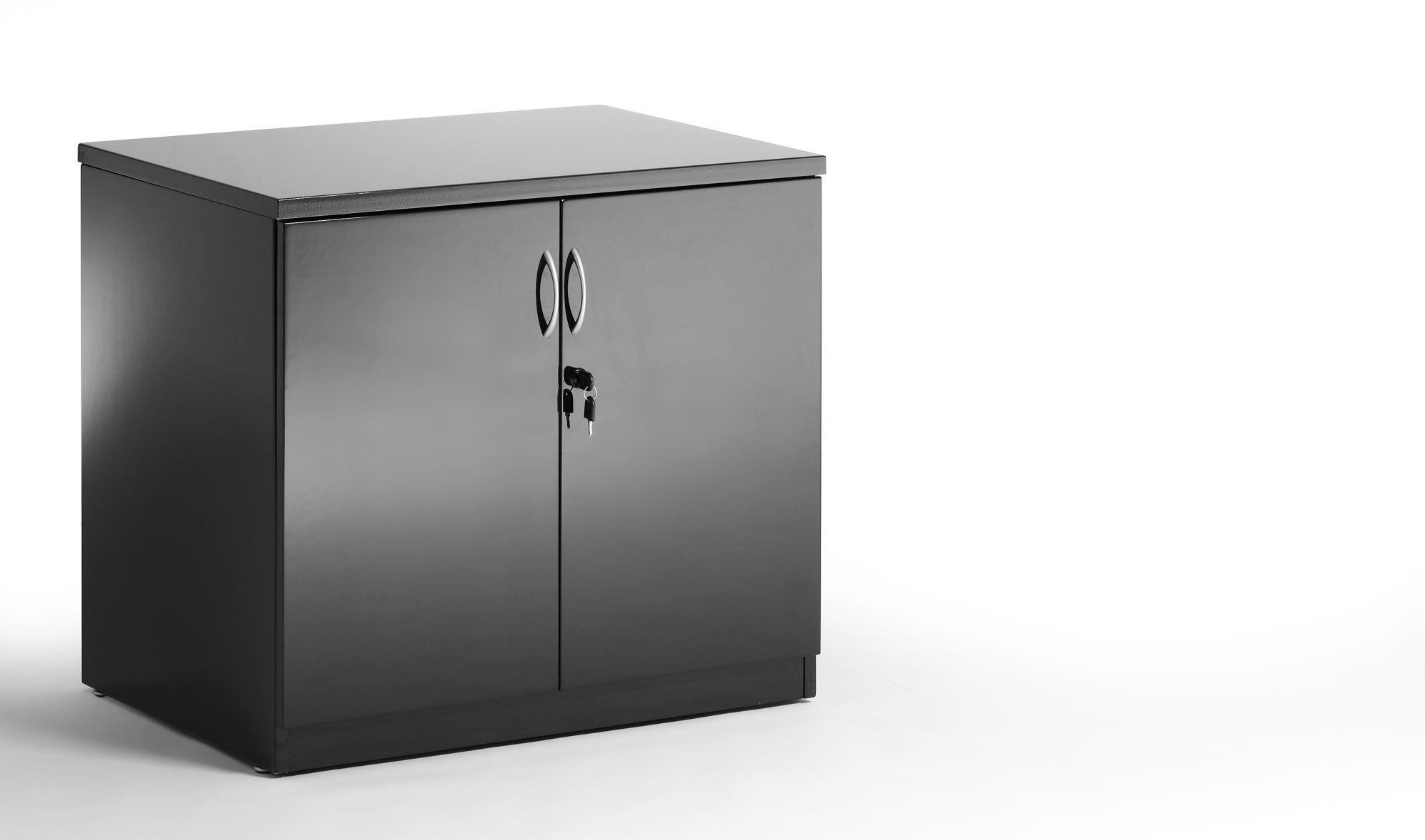 Black Hi Gloss cupboard