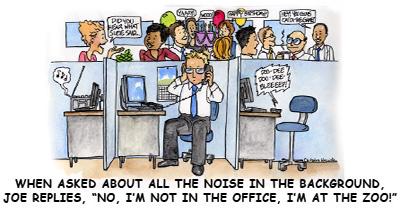 noisy office