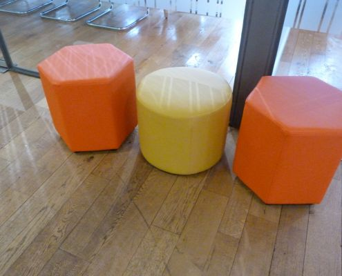 hexagonal stool