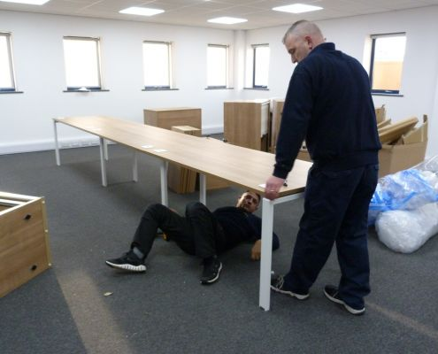 Bench desk fitting