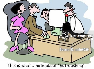 This is what I hate about hot desking
