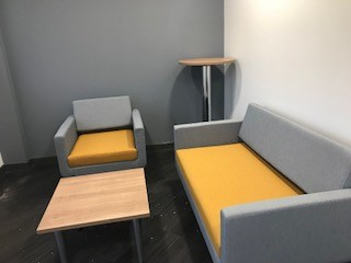 Reception area sofas   Albert Harrision   Bevlan Office Interiors