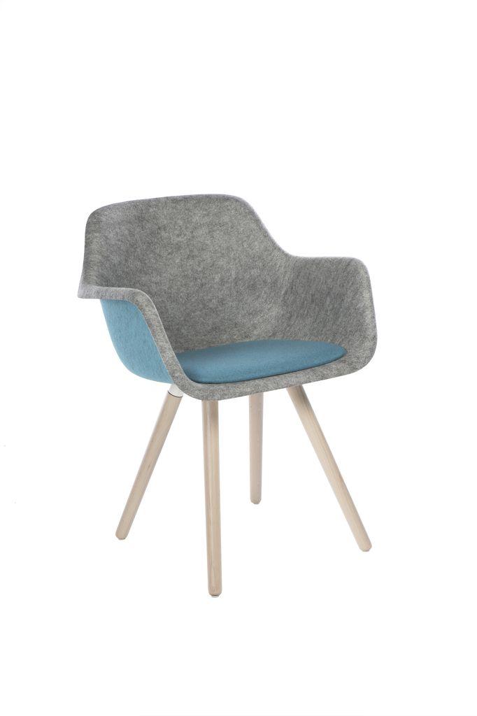 Moka felt tub chair