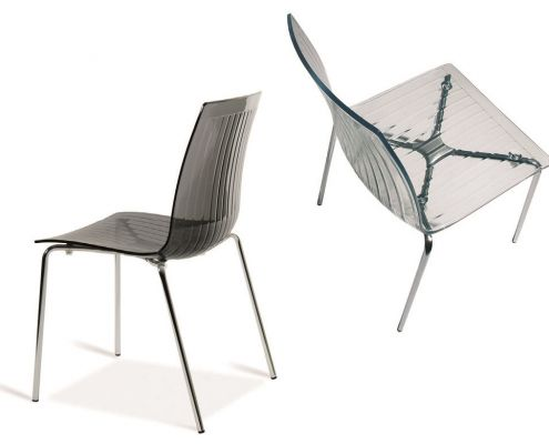 Two Grey City Chairs