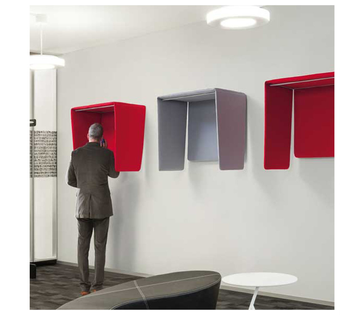 Red Acoustic Phone Booth