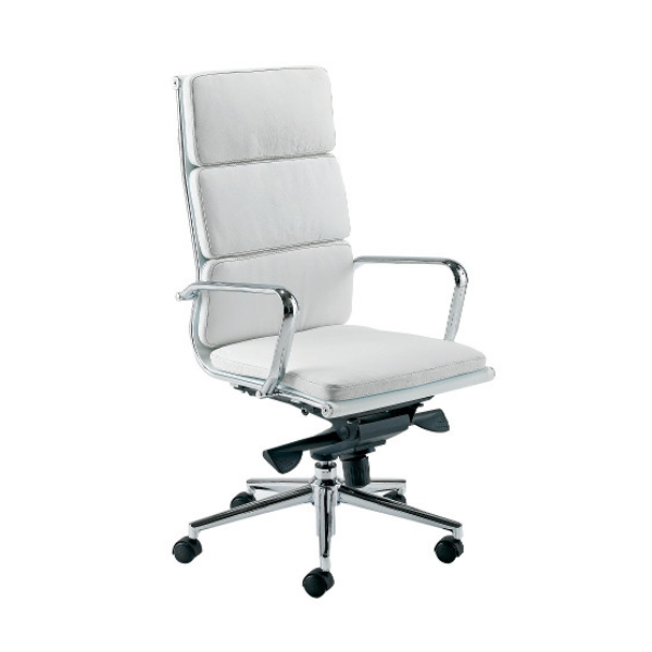 White leather chair - Aria C