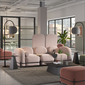 Flord Modular Seating Modern Office Interior Design Pink Sofa Classy office interior collection