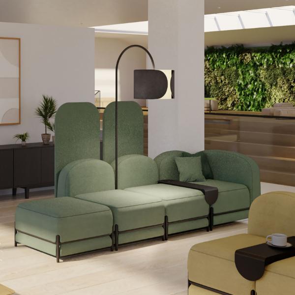 Green Flord Screens Green Sofa Modern furniture Modern interior luxury