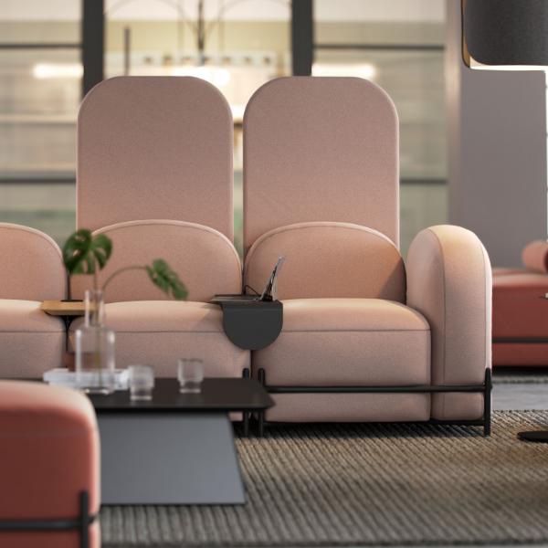 Pink Flord Screens Pink Sofa Modern furniture Modern interior luxury