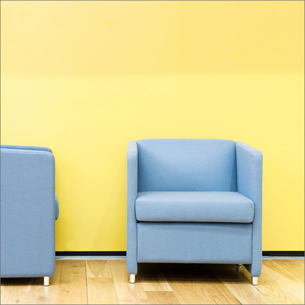 Jac Reception Chair Soft Seating Armchair Yellow Blue