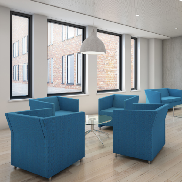 Reception Chair Soft Seating Armchair Blue