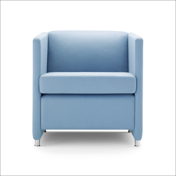 Jac Reception Chair Soft Seating Armchair Blue