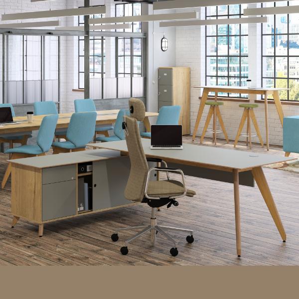 Ligni Workstation Sven Covid-19 Protection Desk