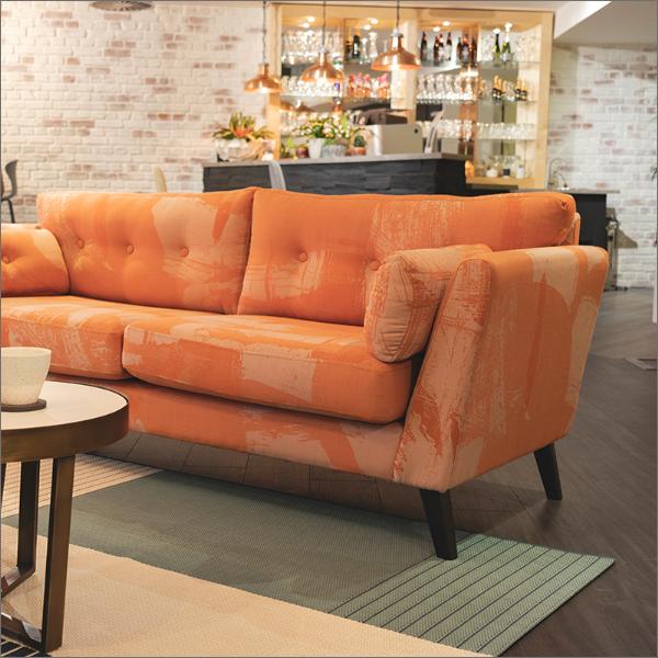 Orange sofa catalogue picture