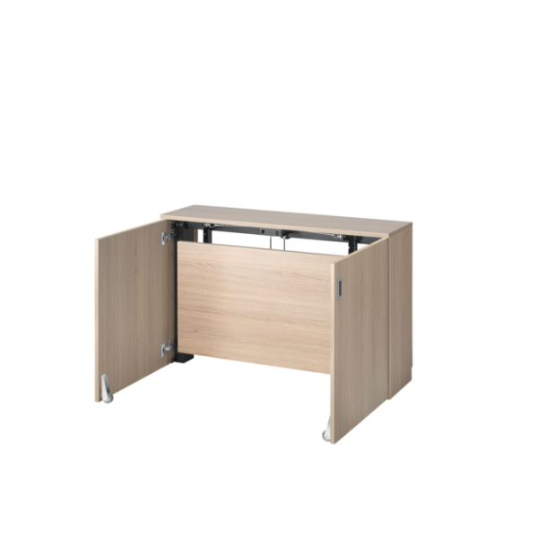 Wooden finish space-saving desk