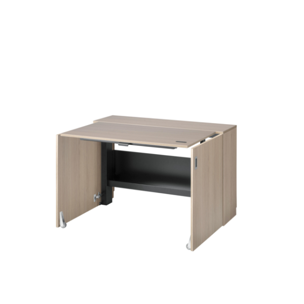 Wooden-finish space saving desk