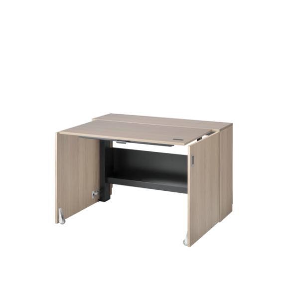 Wooden-finish space saving desk