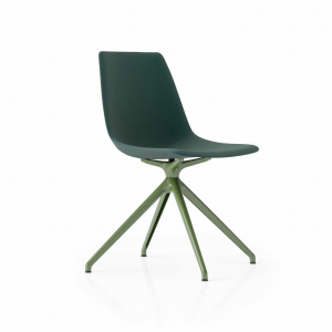 Ola Product Picture - 4-leg bistro chair finished in green. Front view